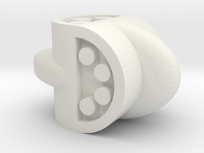 D4 Barrel-Lug in White Natural Versatile Plastic