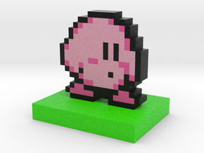 Kirby Pixel Art in Full Color Sandstone