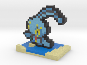 Pokemon Manaphy Pixel Art in Full Color Sandstone