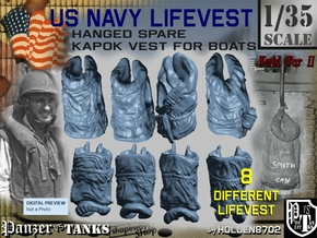 1-35 USN Hanged Kapok Lifevest Set1 in White Natural Versatile Plastic