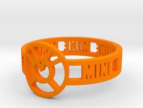 Orange Lantern Oath Ring in Orange Processed Versatile Plastic: 12.25 / 67.125
