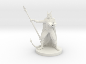 Tiefling Staff Wizard  in White Strong & Flexible