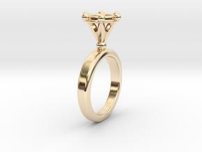 Ring Byzantinium in 14k Gold Plated Brass: 5.5 / 50.25