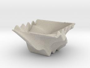 Waved Bowl 3 in Natural Sandstone
