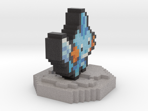 Pokemon Mudkip Pixel Art in Full Color Sandstone