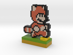 Mario Tanooki Suit PIxel Art in Full Color Sandstone
