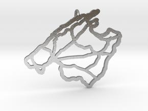Mallorca Pendant in Natural Silver