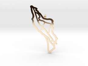 Île d'Oléron Pendant in 14k Gold Plated Brass
