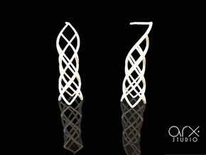 Caprichosa Earrings in White Processed Versatile Plastic