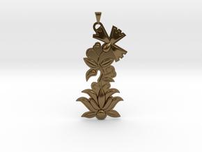 Kashubian Pendant in Polished Bronze