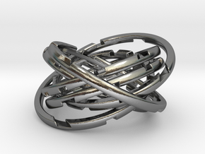 WASP Coaster in Polished Silver (Interlocking Parts)