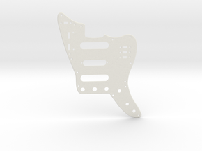 Full Non Plate Jaguar Pickguard with middle Strat  in White Natural Versatile Plastic