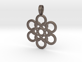 METATRONIC THRUST in Polished Bronzed Silver Steel