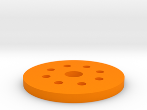 Bussard Dome Assembly - 1:600 - 02 in Orange Processed Versatile Plastic
