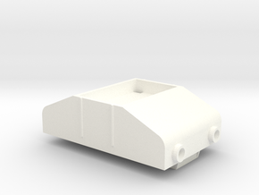 Gnomy E-Lok, 1x body in White Processed Versatile Plastic