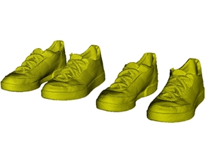 1/35 scale sneaker shoes B x 2 pairs in Smoothest Fine Detail Plastic