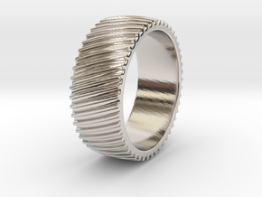 Richard - Ring in Rhodium Plated Brass: 6 / 51.5