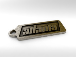 Atlanta, Georgia Keychain in Polished Bronze Steel
