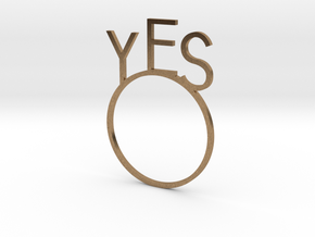 YES [LetteRing© Serie] in Natural Brass