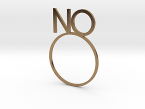 NO [LetteRing© Serie] in Natural Brass