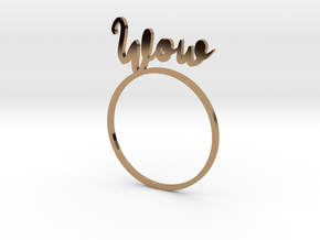 WOW [LetteRing® Serie] in Polished Brass