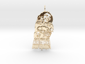 Bob Marley Pendant in 14k Gold Plated Brass