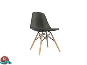 1:6 Miniature Eames DSW Chair - Charles Eames in White Strong & Flexible