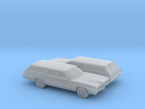 1/160 2X 1971 Ford LTD Station Wagon in Frosted Ultra Detail
