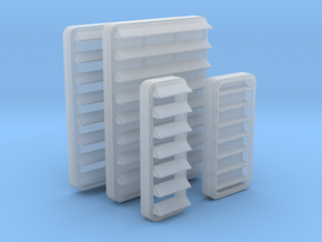 1/96 DKM Louver Set x4 in Smooth Fine Detail Plastic