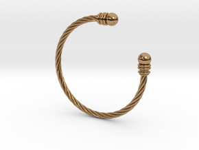 Bracelet ZXY XL in Polished Brass