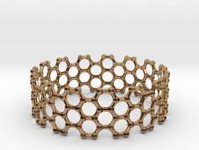 Bracelet AZ Large in Polished Brass