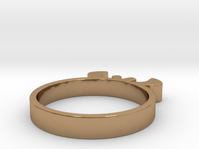 Simple Ring 15.70 U.K. Size J1/2 or US size 5 in Polished Brass