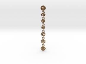 7 Chackras Buddist Pendant (Interlocking, 7,5 cm) in Interlocking Raw Brass