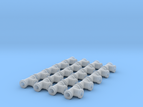 """Miniature Pipe Connectors Ts 3/32"""" 2.4mm (X20) in Smooth Fine Detail Plastic"""