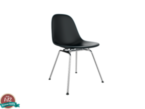 Miniature Eames Side DSX Chair - Charles Eames in White Natural Versatile Plastic