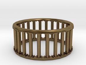 Greek/Roman Pillar Ring in Natural Bronze
