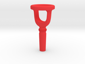 Tuba Cut-Away Mouthpiece Trainer - 1.30 Inch ID in Red Strong & Flexible Polished