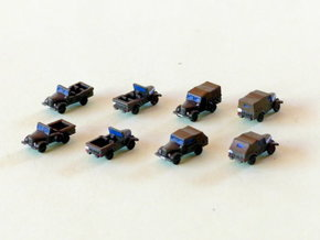 Russian GAZ 69 Variants 1/220 Z-Scale in Smooth Fine Detail Plastic
