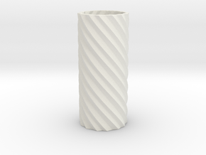 Double Spiral in White Natural Versatile Plastic