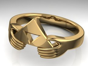 Triforce Zelda Ring Size German 18 in Premium Silver