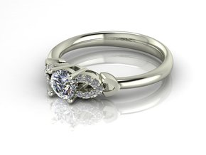 Classic Solitaire 4 NO STONES SUPPLIED in Fine Detail Polished Silver