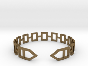 2D Houses  Bracelet Medium Size D=65mm in Natural Bronze: Medium