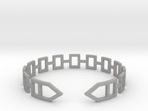 2D Houses  Bracelet Medium Size D=65mm in Aluminum: Medium