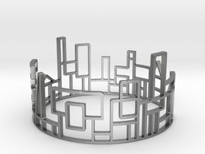SKYLINE Bracelet Medium Size D=65mm in Natural Silver: Medium