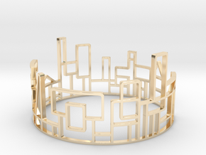 SKYLINE Bracelet Medium Size D=65mm in 14K Yellow Gold: Medium