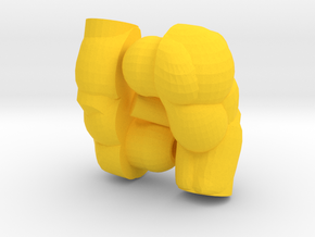 Muscular Lego Arms in Yellow Processed Versatile Plastic
