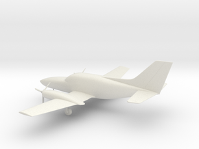 Cessna 402C Utiliner / Businessliner in White Natural Versatile Plastic: 1:72