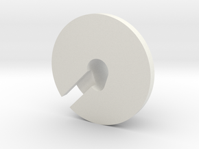 AAA-Cell Battery Base in White Natural Versatile Plastic