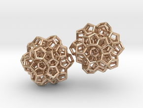 120-cell (partial) earrings in 14k Rose Gold Plated Brass