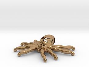"The Parallelkeller ""Spider-Kraken"" pendant (larger in Polished Brass"